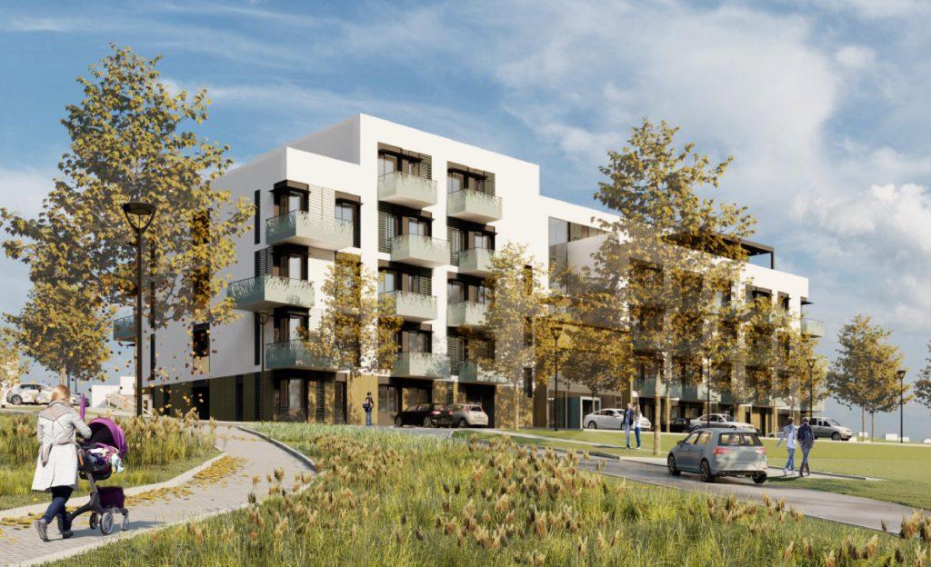 Vizualizace bytového domu spečovatelskou službou vměstské části Bystrc