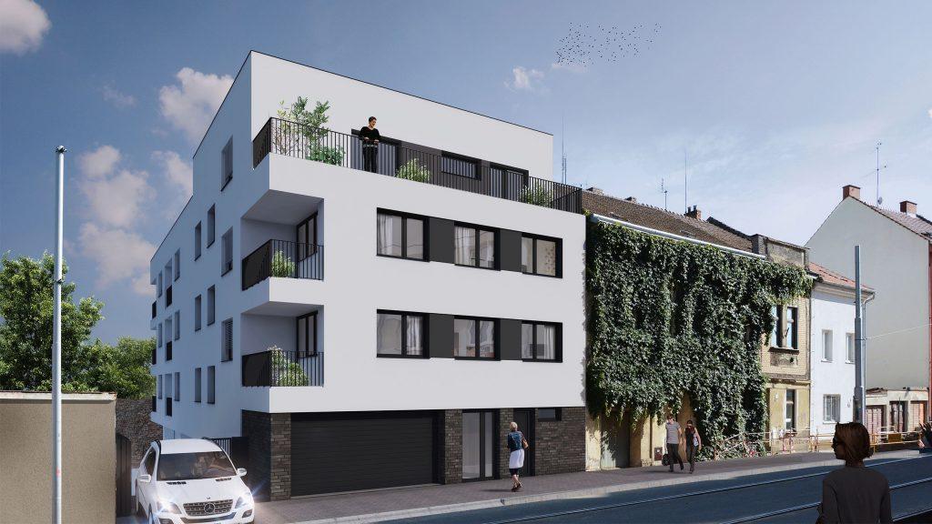 Bytový dům na ulici Valchařská
